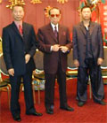 Lam Cho with his sons Lam Chun Fai and Lam Chun Sing